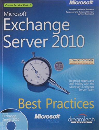 9789350041819: MICROSOFT EXCHANGE SERVER 2010 BEST PRACTICES