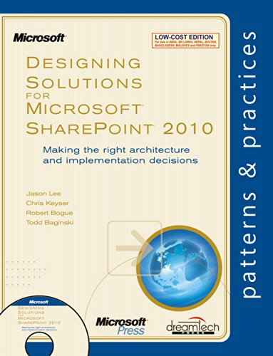 9789350041864: Designing Solutions for Microsoft Sharepoint 2010: Making the Right Architecture and Implementation Decisions