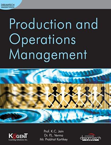 Production & Operations Management: Prof. K.C. Jain,