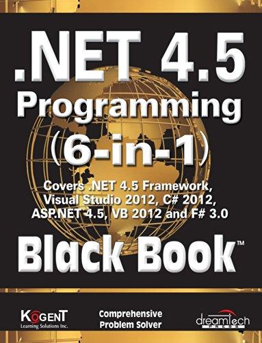 9789350045107: .NET 4.5 PROGRAMMING 6-IN-1, BLACK BOOK