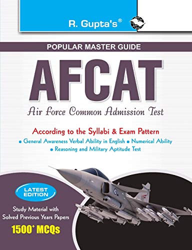 AFCAT (Air Force Common Admission Test) Exam Guide (enlarged): RPH Editorial Board
