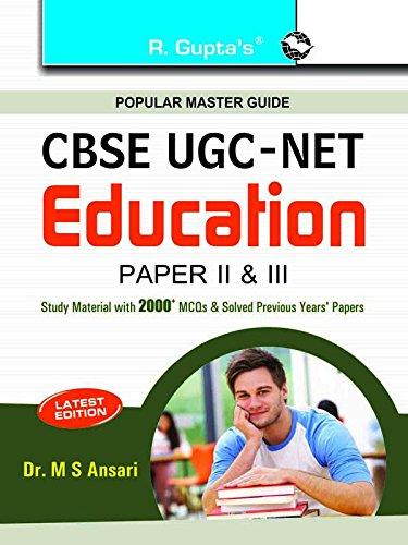 CBSE UGC-NET EDUCATION PAPER II & III: DR,M S ANSARI