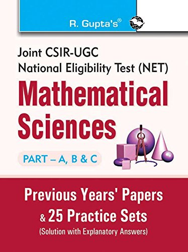 9789350125403: Joint CSIR-UGC (NET) Mathematical Sciences: Previous Years Paper and 25 Practice Sets (Solved)