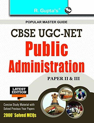 9789350127681: CBSE-UGC-NET: Public Administration (Paper II & III) Exam Guide