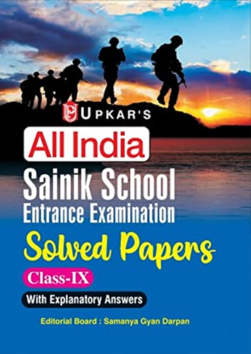 Sainik School Entrance Examination (Solved Papers) (Class: Editorial Board