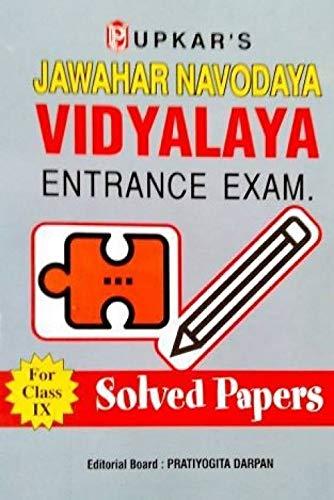Jawahar Navodaya Vidyalaya Entrance Test (Solved Papers),: Editorial Board: Pratiyogita