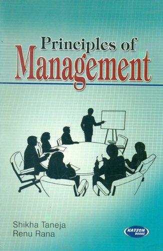 Principal Of Management Book