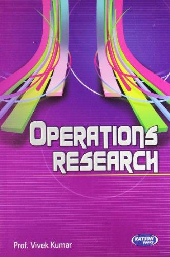 Operations Research: Prof Vivek Kumar