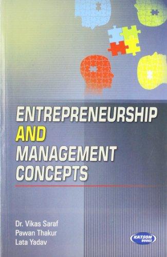 9789350144367: Entrepreneurship & Management Concepts