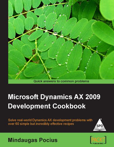 9789350230091: MICROSOFT DYNAMICS AX 2009 DEVELOPMENT COOKBOOK