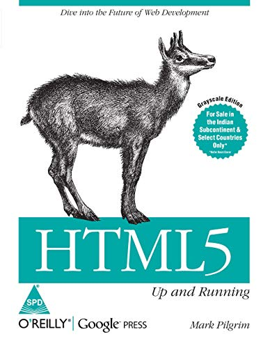 9789350230824: HTML5 : Up And Running