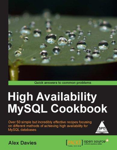9789350231722: HIGH AVAILABILITY MYSQL COOKBOOK