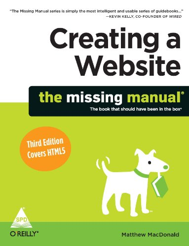 9789350233955: Creating a Website: The Missing manual