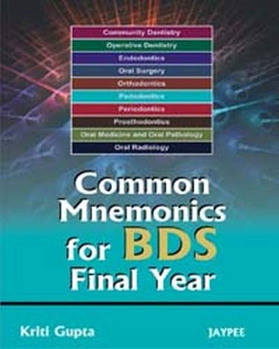 9789350250624: Common Mnemonics for BDS Final Year