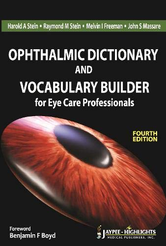 9789350253656: Ophthalmic Dictionary and Vocabulary Builder for Eye Care Professionals