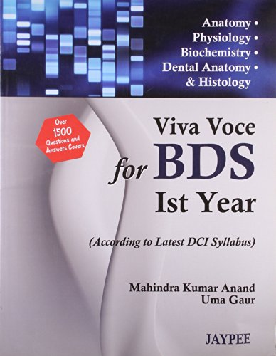VIVA VOCE for BDS Ist Year Students: Mahindra Kumar Anand