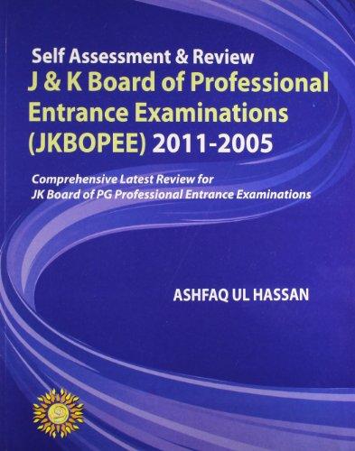 Self Assessment & Review J & K: Hassan Ashfaq Ul