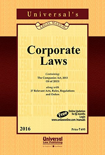 Corporate Laws, (Pocket Size),: UNIVERSAL'S Legal Manual
