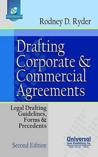 9789350350867: Drafting Corporate and Commercial Agreements: Legal Drafting Guidelines, Forms and Precedents