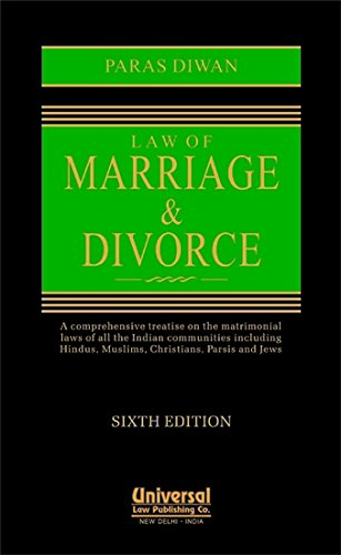 Law of Marriage and Divorce: Paras Diwan