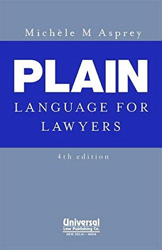 9789350350966: Plain Language for Lawyers