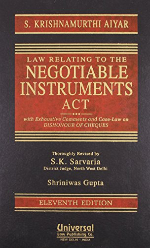 9789350351673: Law Relating to Negotiable Instruments Act with Exhaustive Comments and Case Law on Dishonour of Cheques