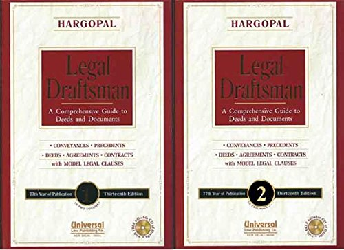Legal Draftsman (A Comprehensive Guide to Deeds and Documents), 13th Edn. (In 2 Vols.) (77th Year ...