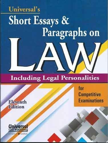 9789350355787: Short Essays and Paragraph on Law