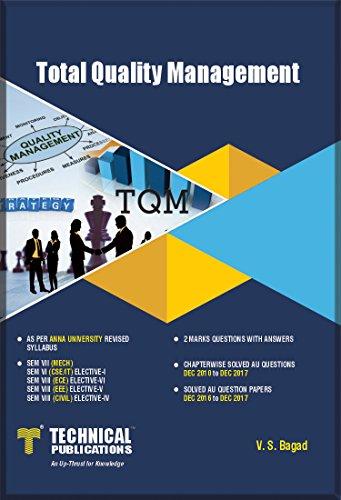 Total Quality Management for ANNA University (VII-ECE/EEE/MECH/CSE-2008: V.S. Bagad