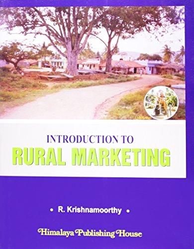 INTRODUCTION TO RURAL MARKETING: R. Krishnamoorthy