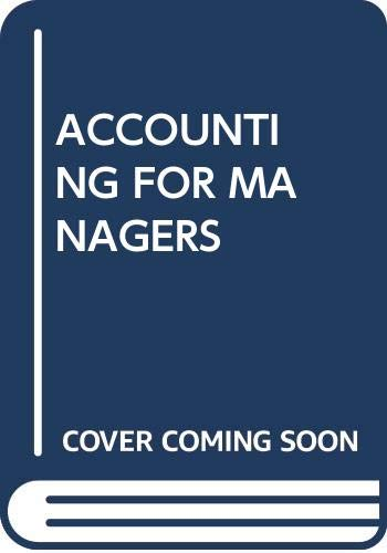 ACCOUNTING FOR MANAGERS: J. Madegowda