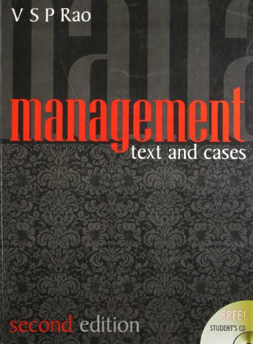 Management: Text Cases (Paperback): V. S. P. Rao