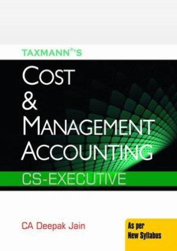Cost and Management Accounting: Ca Deepak Jain