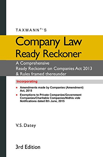 9789350717042: Company Law Ready Reckoner
