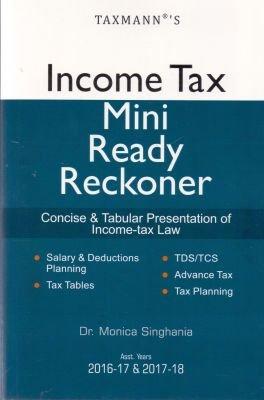 9789350719060: Income Tax Mini Ready Reckoner (A.Y 2016-17 & 2017-18)