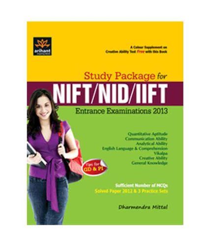 9789350751954: Study Package for NIFT, NID & IIFT Entrance Exam 2012
