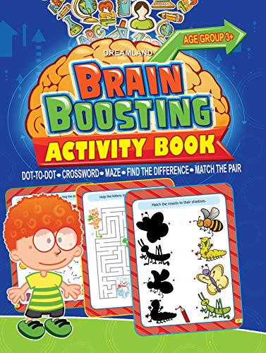 9789350895634: Brain Boosting Activity Book: Match the Pair, Find the Difference, Maze, Crossword, Dot-to-Dot (3+ Yrs)