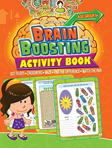 9789350895658: Brain Boosting Activity Book: Match the Pair, Find the Difference, Maze, Crossword, Dot-to-Dot (5+ Yrs)