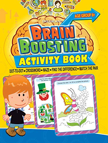 9789350896525: Brain Boosting Activity Book: Match the Pair, Find the Difference, Maze, Crossword, Dot-to-Dot (6+ Yrs)