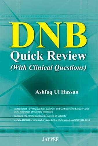 DNB Quick Review (With Clinical Questions): Ashfaq U.l. Hassan