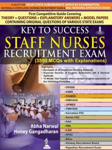 9789350906972: Key to Success Staff Nurses Recruitment Exam (3500