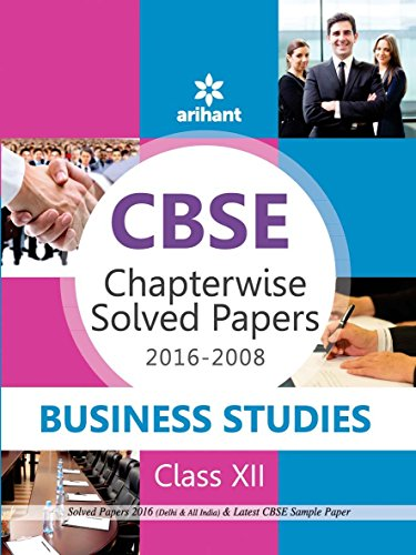 9789350948958: CBSE Chapterwise 2016-2008 Business Studies Class 12th