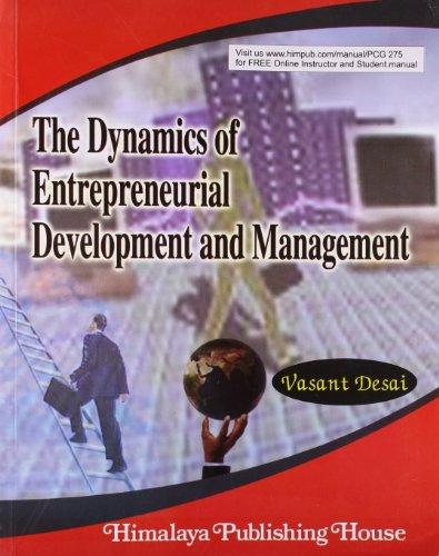 The Dynamics of Entrepreneurial Development and Management: Desai, Vasant