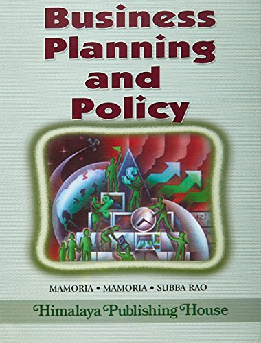 Business Planning and Policy: Mamoria & Subba