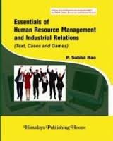 Essentials of HRM and Industrial Relation: Subba Rao, P.