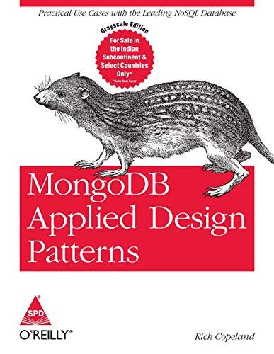 9789351100744: MongoDB Applied Design Patterns