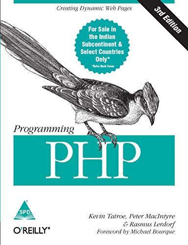 9789351102113: Programming PHP