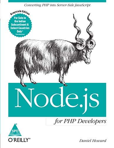 9789351102236: Node.js for PHP Developers