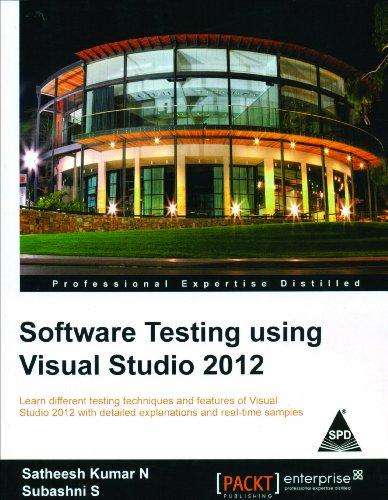 9789351102786: Software Testing Using Visual Studio 2012