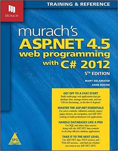 9789351108320: Murach's ASP.NET 4.5 Web Programming with C# 2012